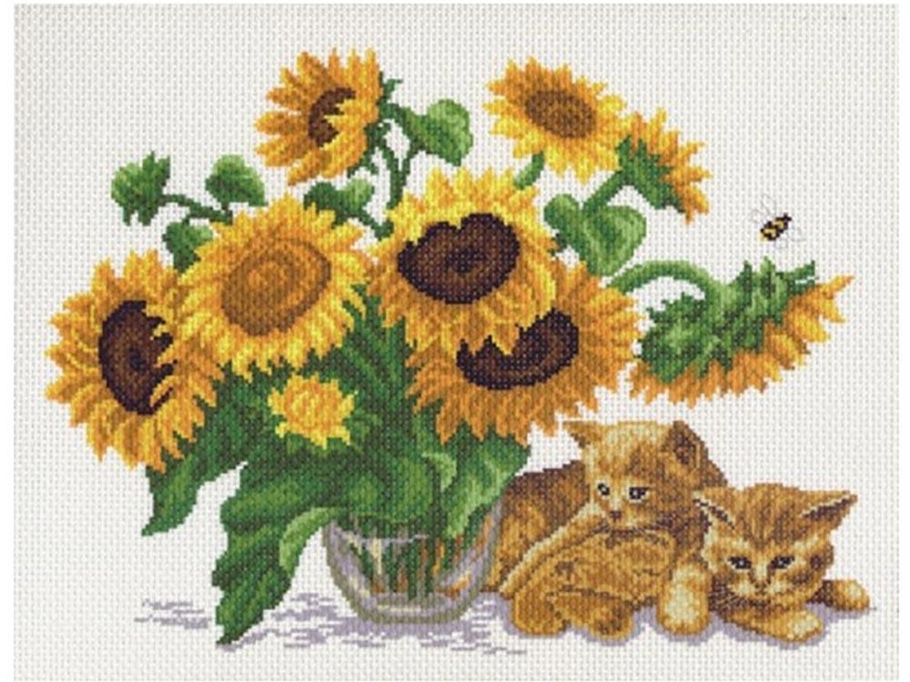 Купить Вышивка крестом, Набор для вышивания «Солнечный букет», Матренин Посад, 37x49 см, 0524/Н