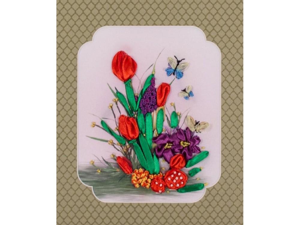 Купить Смешанная техника, Набор для вышивания «Тюльпанчики», Матренин Посад, 28x34 см, 7024/Л