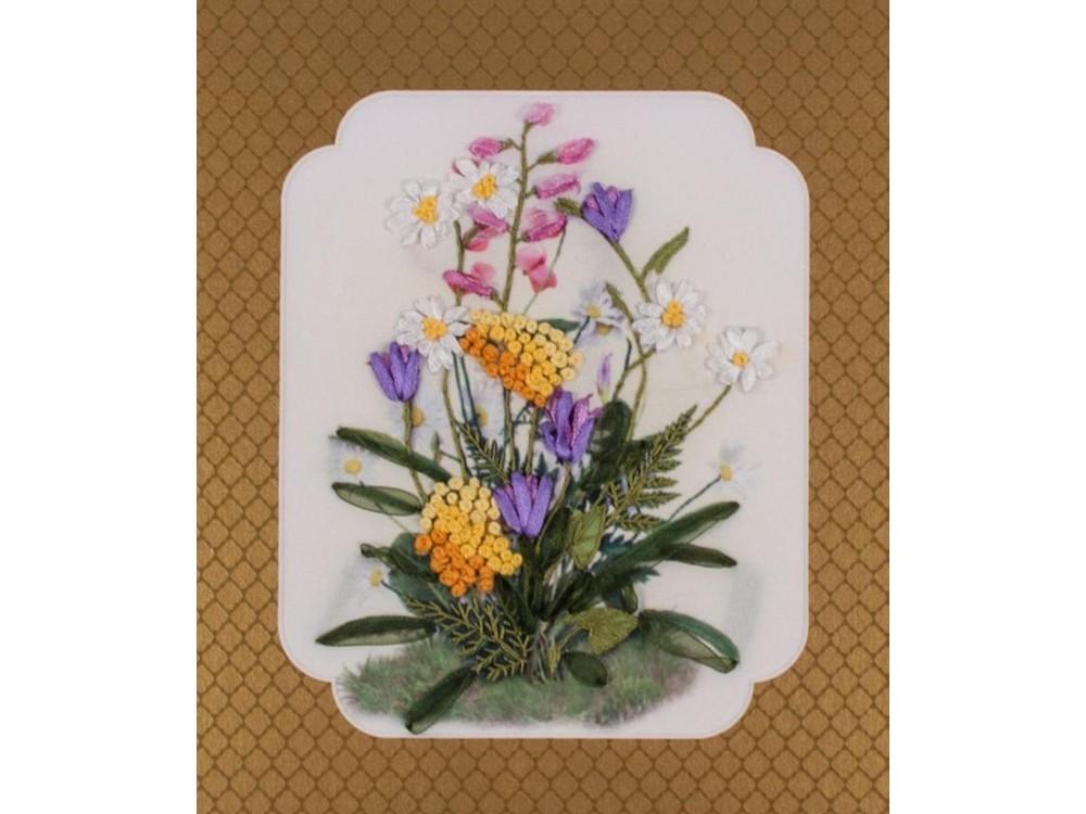 Купить Смешанная техника, Набор для вышивания «Цветы полевые», Матренин Посад, 28x34 см, 7026/Л