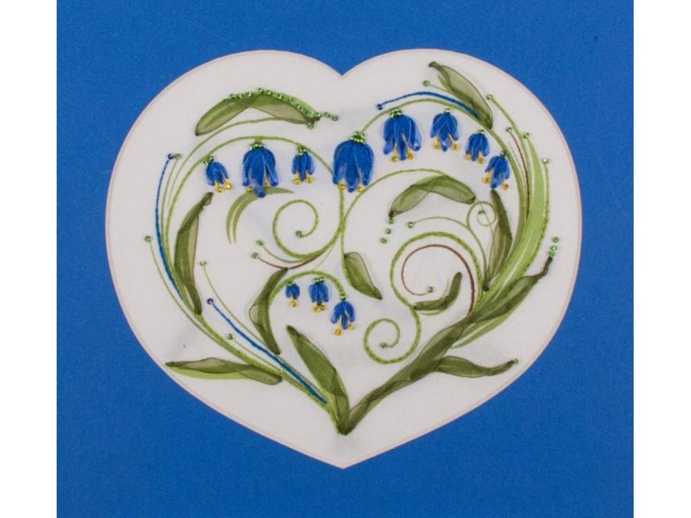 Купить Смешанная техника, Набор для вышивания «Колокольчики - сердце», Матренин Посад, 28x34 см, 7027/Л