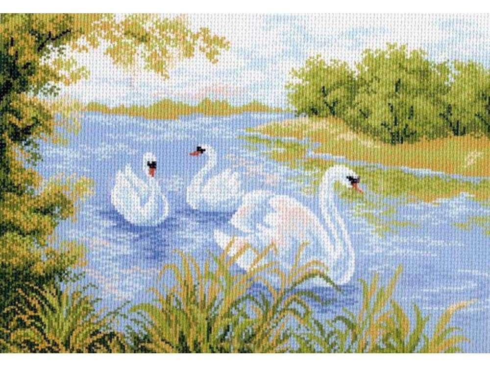Купить Вышивка крестом, Набор для вышивания «Лебединое озеро», Матренин Посад, 37x49 см, 0715/Н