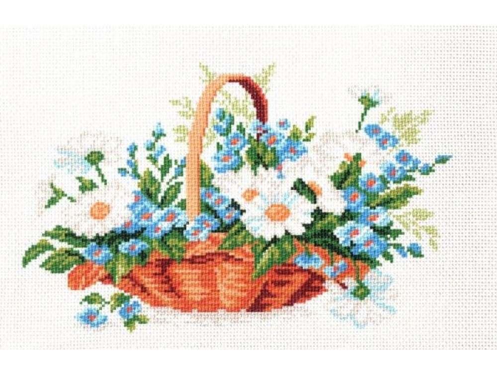 Купить Вышивка крестом, Набор для вышивания «Полевой букет», Матренин Посад, 28x37 см, 0816/Н
