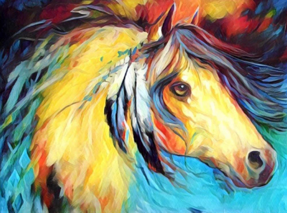 Купить Мозаика из пайеток «Лошадь», Color KIT, 30x40 см, CME009