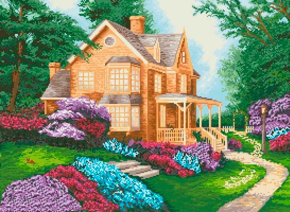 Купить Алмазная вышивка «Дом мечты», Painting Diamond, 40x50 см, GF1335
