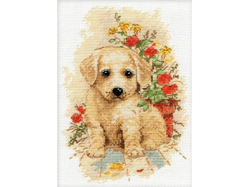 Купить Вышивка крестом, Набор для вышивания «Мой щенок», Овен, 13x19 см, 998
