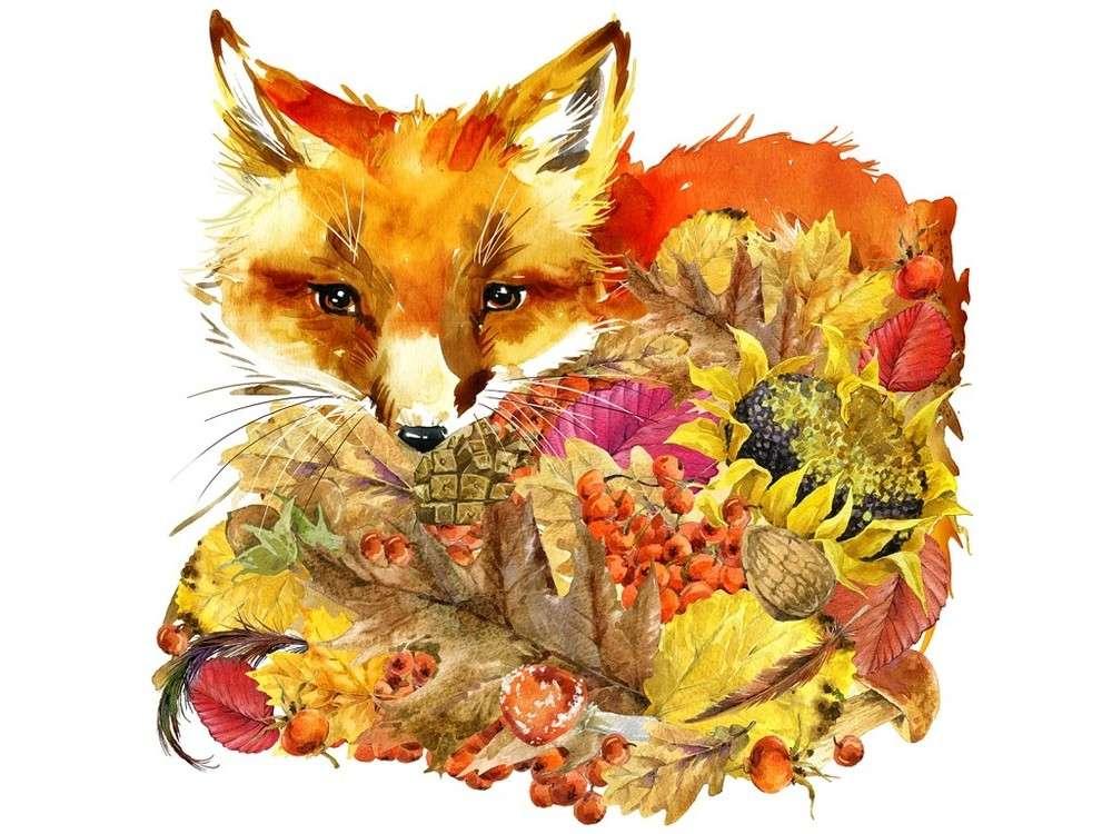 Купить Вышивка бисером, Набор вышивки бисером «Осенний лис», Матренин Посад, 28x34 см, 0136/Б