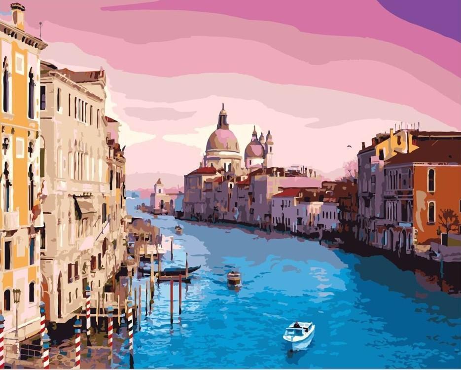 Купить Картина по номерам «Утро в Венеции», Paintboy (Premium), Китай, GX8337