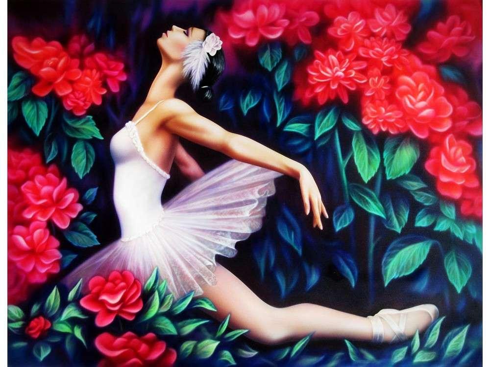 Картинки балерина и цветы