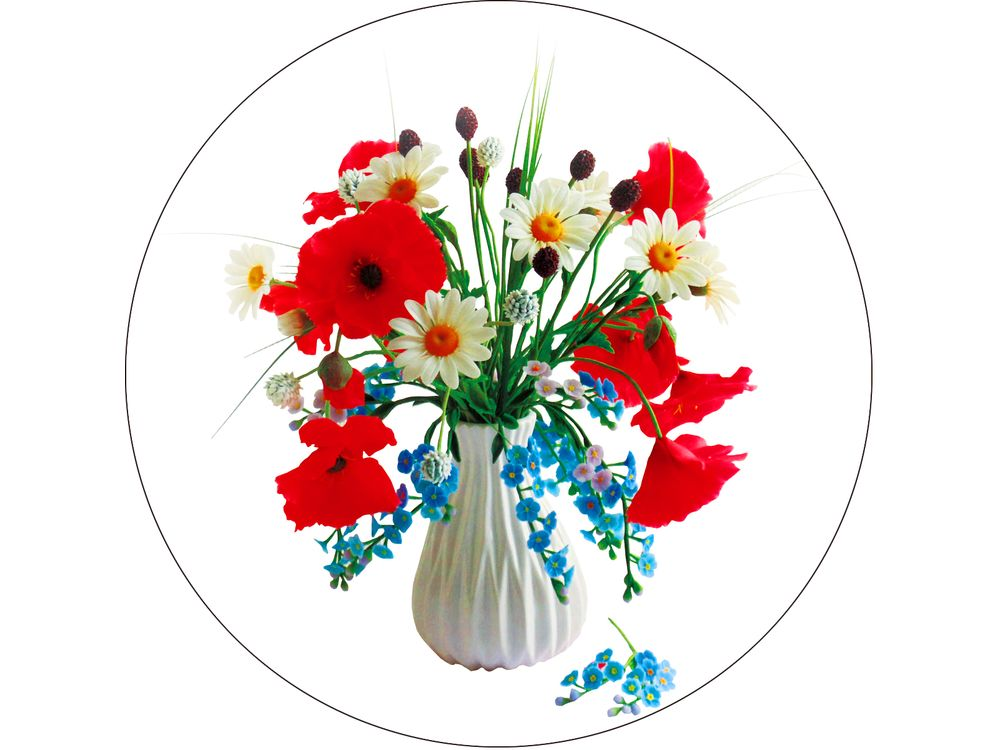 Купить Вышивка крестом, Набор для вышивания «Полевые цветы», Цветной, 28x28 см, V13