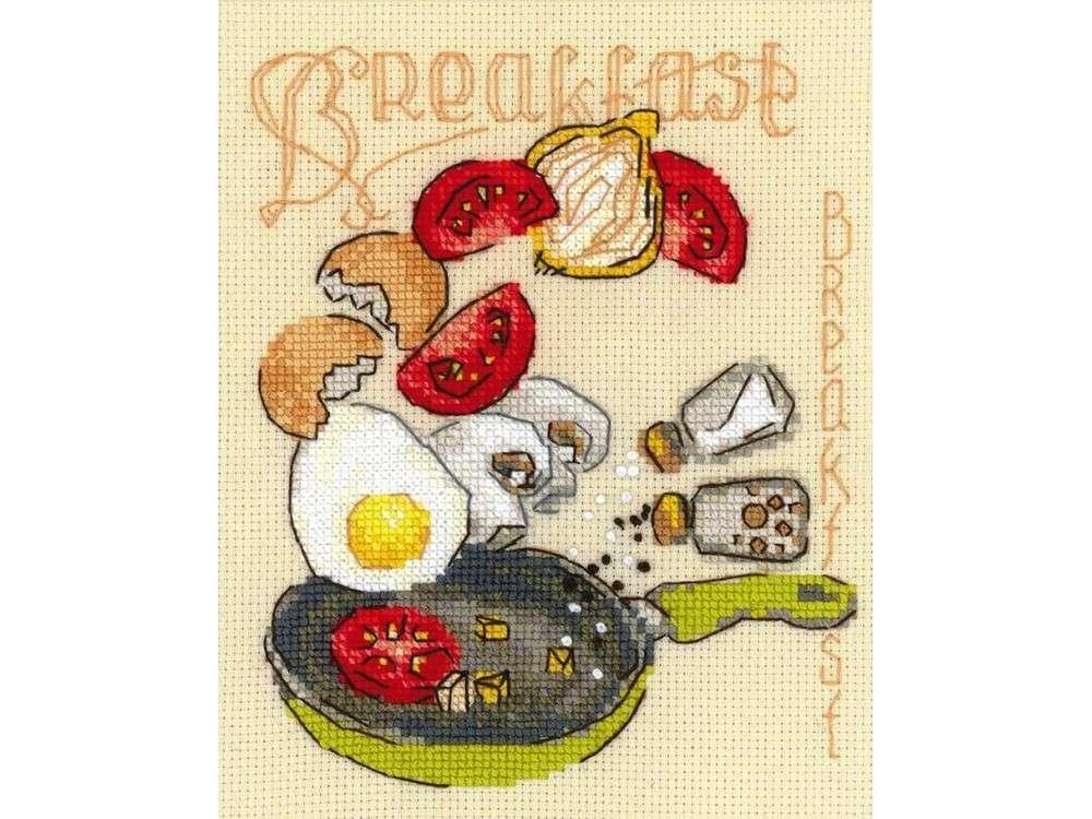 Купить Вышивка крестом, Набор для вышивания «Завтрак», Риолис (Сотвори Сама), 15x18 см, 1684