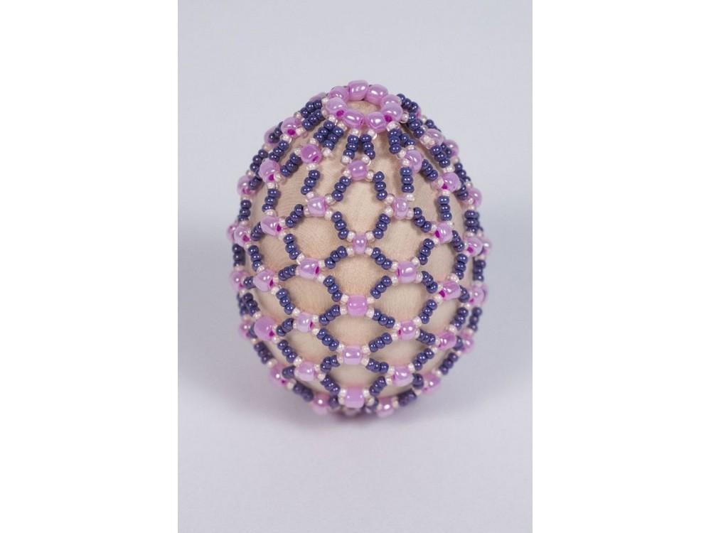 Купить Набор для бисероплетения «Пасхальное яйцо. Лепесток фиалки», Матренин Посад, 4, 6x6, 2 см, 8400