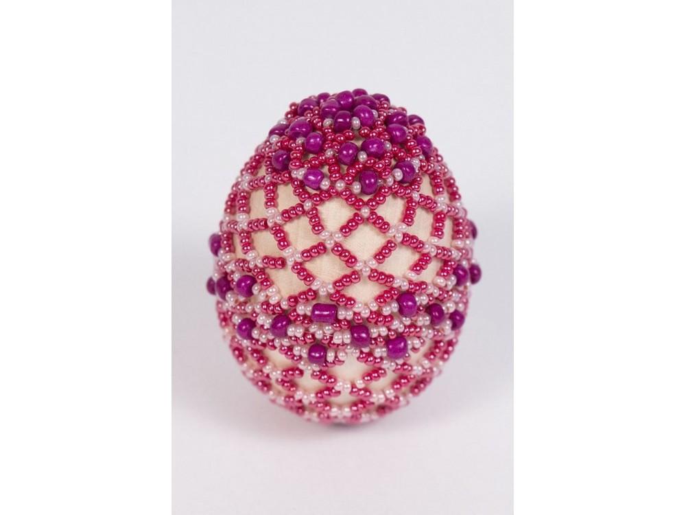 Купить Набор для бисероплетения «Пасхальное яйцо. Лепесток розы», Матренин Посад, 4, 6x6, 2 см, 8402