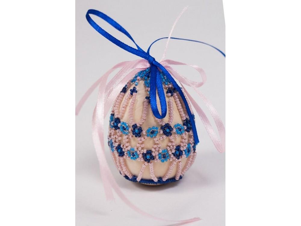 Купить Набор для бисероплетения «Пасхальное яйцо. Цветы любелии», Матренин Посад, 4, 6x6, 2 см, 8407