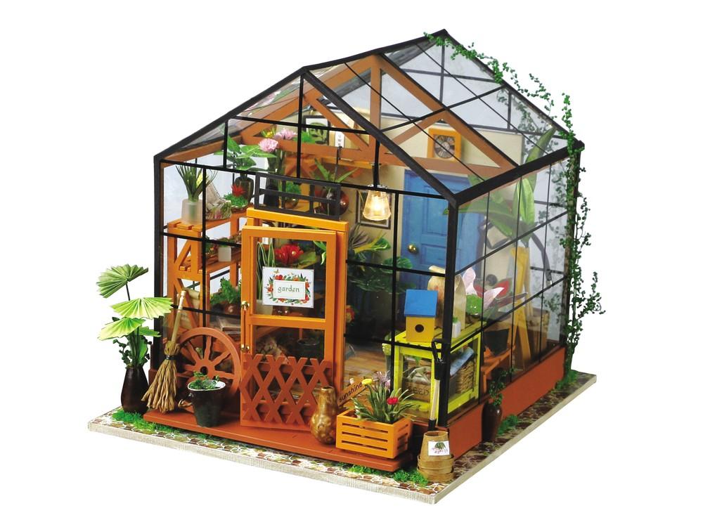Купить Набор для создания миниатюры (румбокс) «Цветочная Оранжерея», Цветной, 19, 5x17, 5 см, DG104