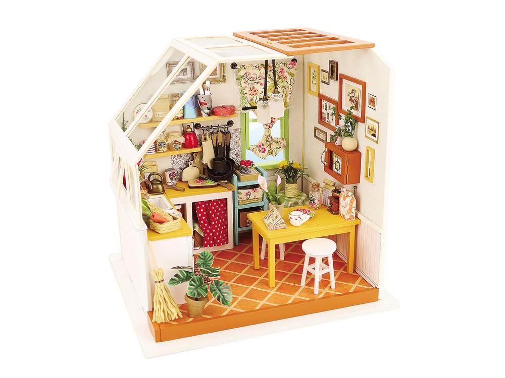 Купить Набор для создания миниатюры (румбокс) «Уютная кухня», Цветной, 18, 9x16, 5x18, 7 см, DG105