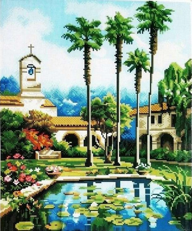 Купить Алмазная вышивка «Райский сад», Painting Diamond, 40x50 см, GF0989
