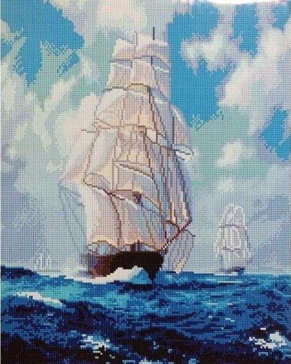Купить Алмазная вышивка «Фрегат», Painting Diamond, 40x50 см, GF1272