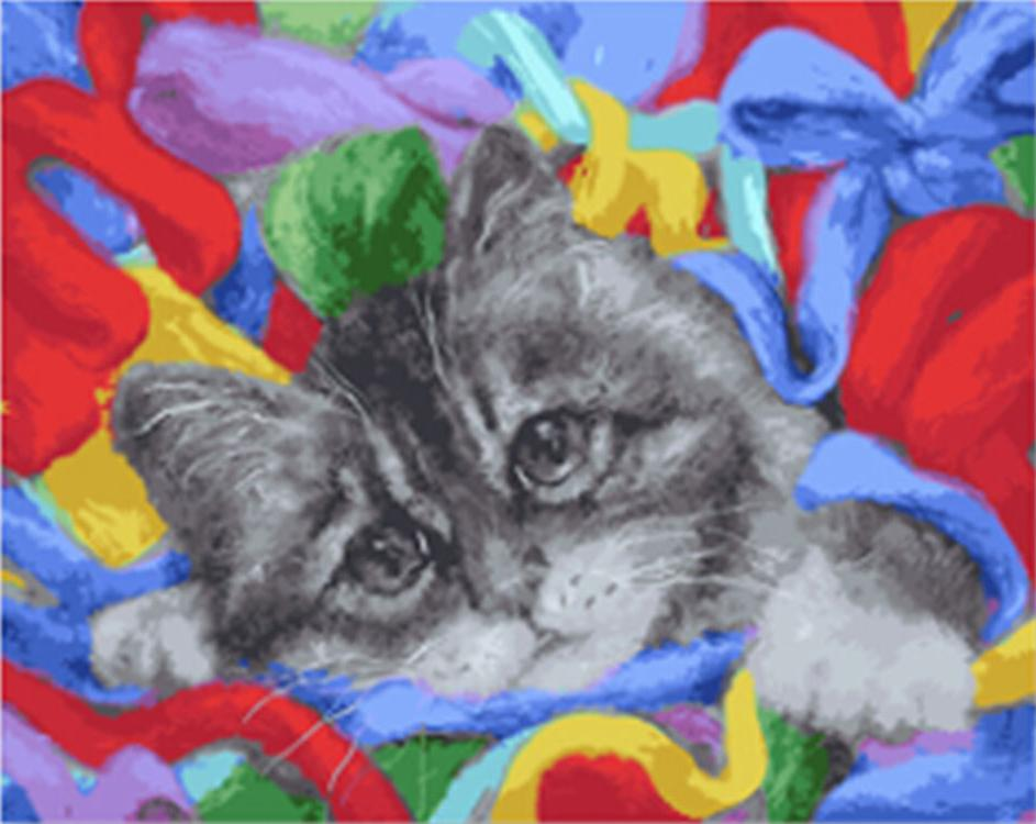 Купить Картина по номерам «Котик», Paintboy (Premium), Китай, GX21625