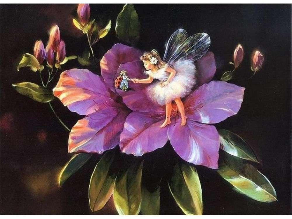 Картинка феи в цветах