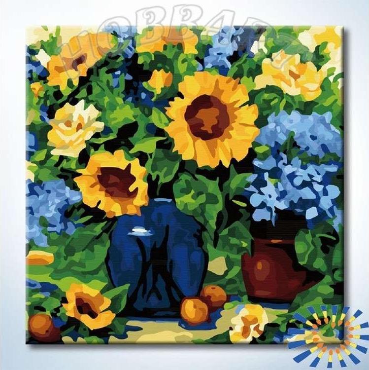 Купить Картина по номерам «Букет в саду», Hobbart, HB4040052-Lite