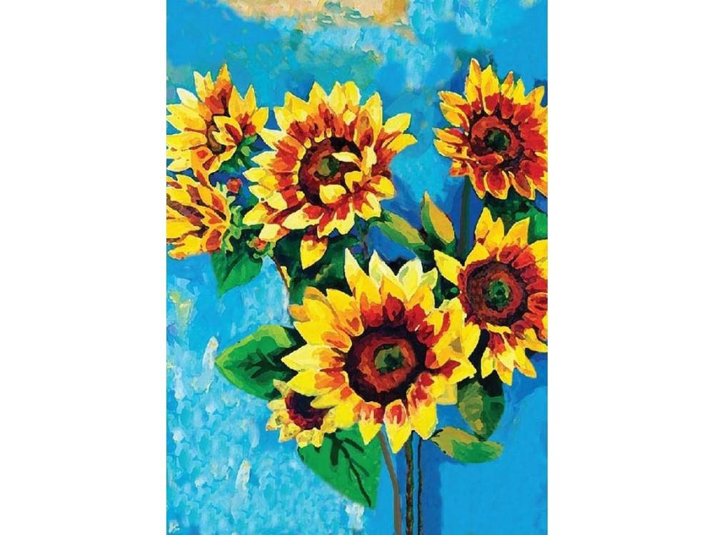Купить Мозаика из пайеток «Подсолнухи», Color KIT, 30x40 см, CME013
