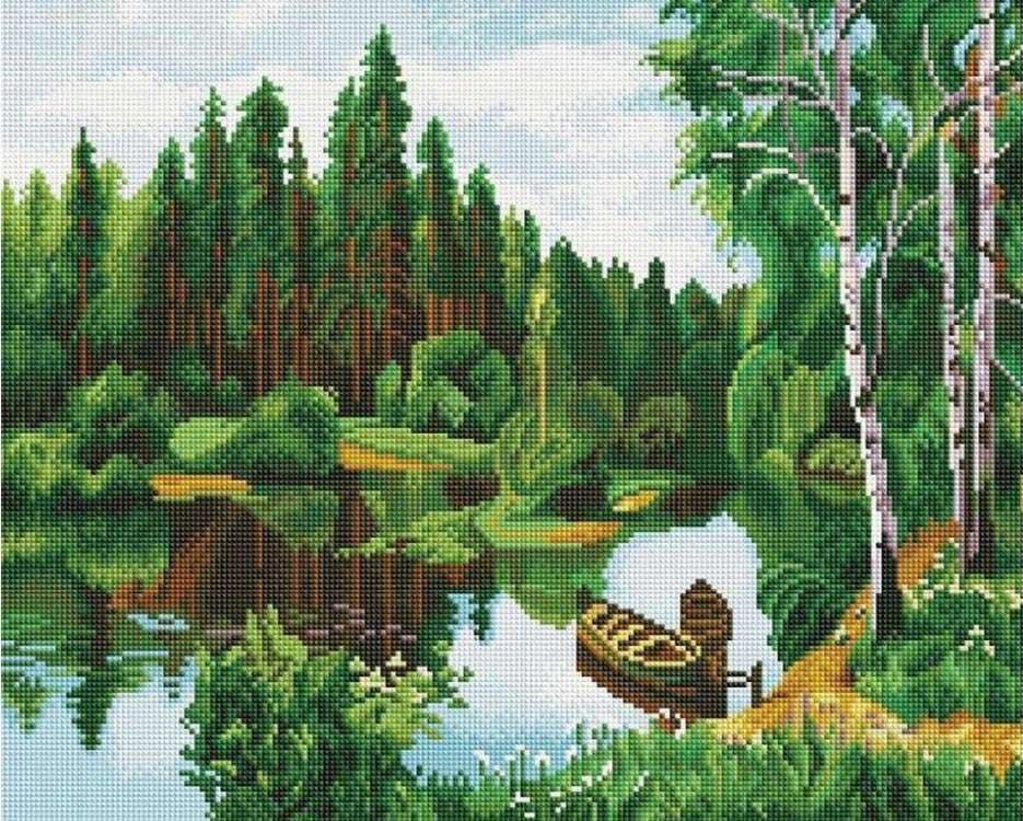 Купить Алмазная вышивка «Лодочки», Painting Diamond, 40x50 см, GF0967
