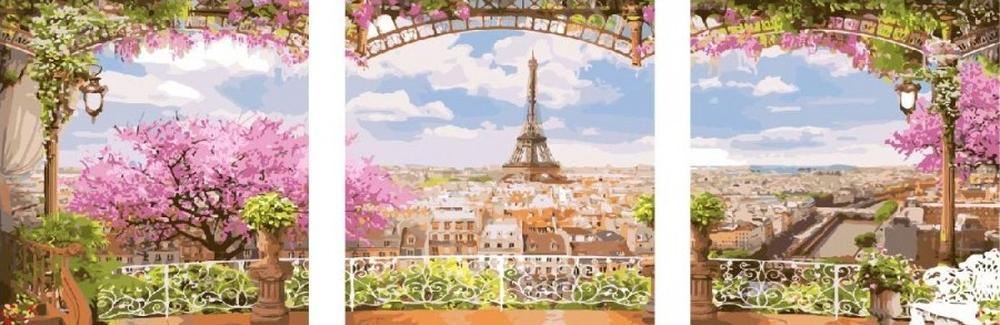 Купить Картина по номерам «Париж», Цветной (Standart), Китай, 3 шт. 50x50 см, PX5095_Z