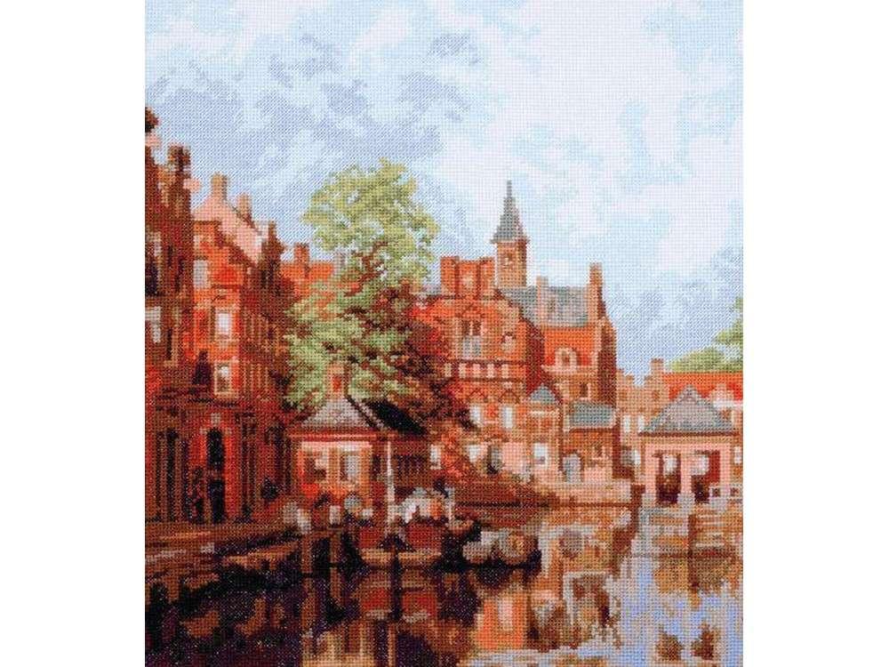 Купить Вышивка крестом, Набор для вышивания «Дордрехт, городской пейзаж», Палитра, 27x30 см, 07.017