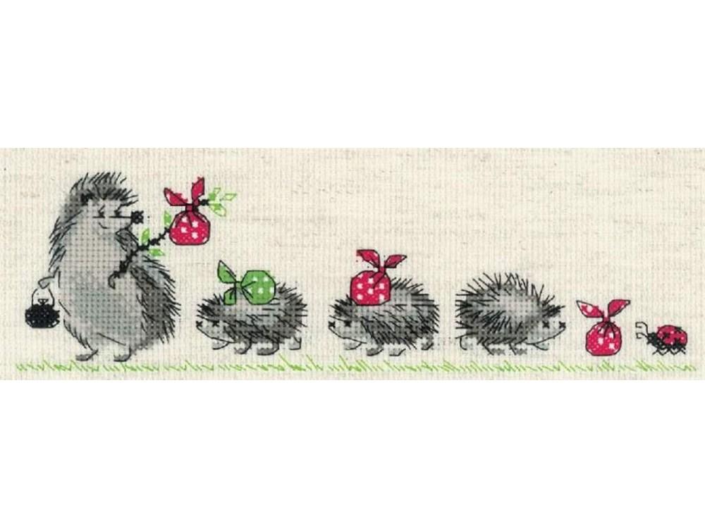 Купить Вышивка крестом, Набор для вышивания «Ежики», Риолис (Сотвори Сама), 24x8 см, 1711