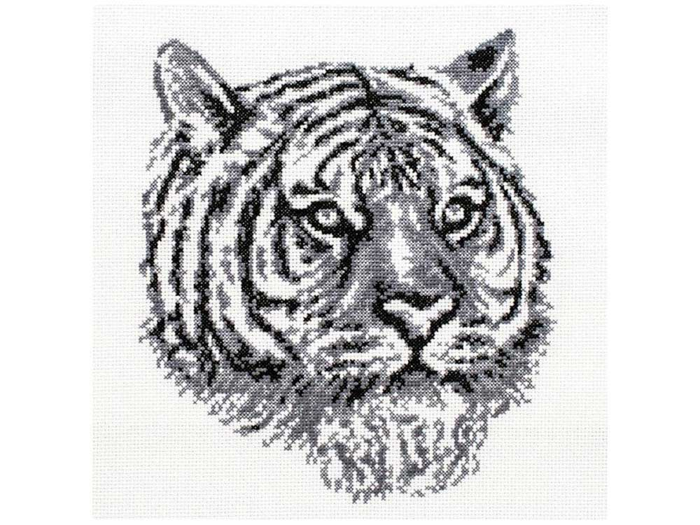 Купить Вышивка крестом, Набор для вышивания «Тигр», Белоснежка, 20, 5x23 см, 187-14