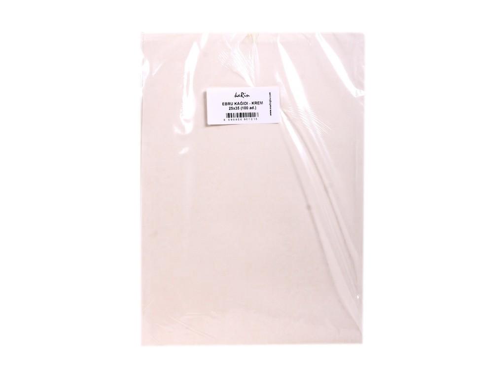 Купить Бумага для эбру светло-кремовая 25x35 см (100 листов), Karin, 50 CREAM