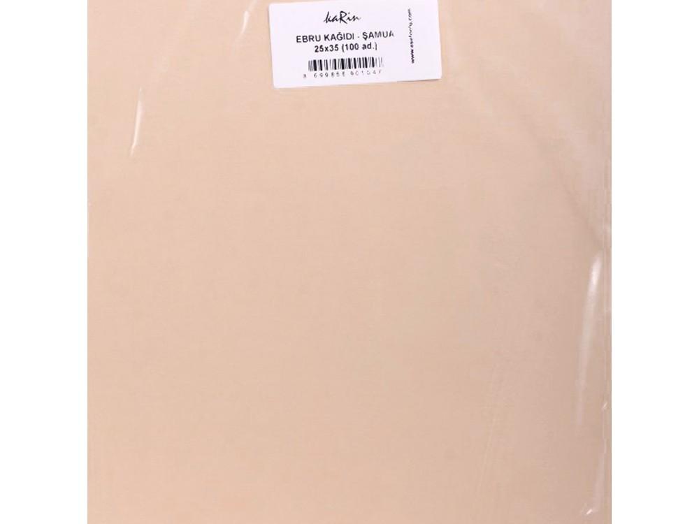 Купить Бумага для эбру шамуа 25x35 см (100 листов), Karin, 52 CHAMOIS