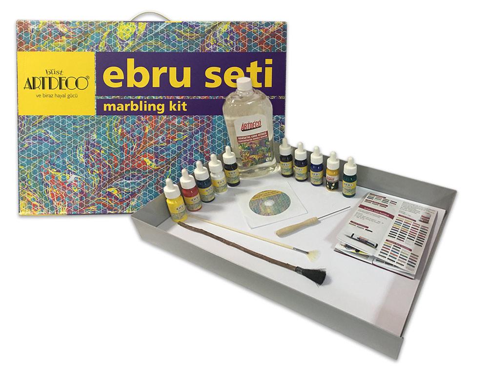 Купить Набор для эбру большой 10 цветов, ArtDeco, Y-016 ES-4