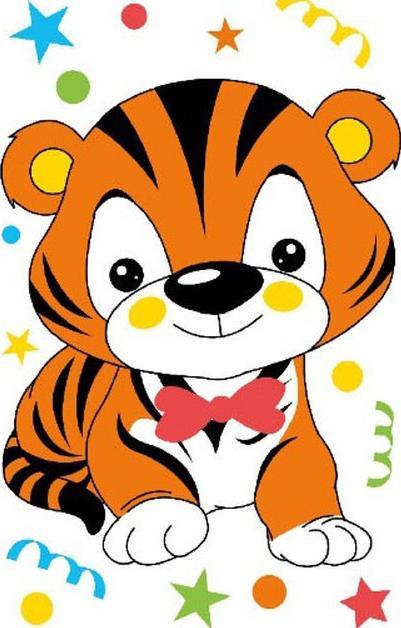 Открытки с тигром детские, гифы новым
