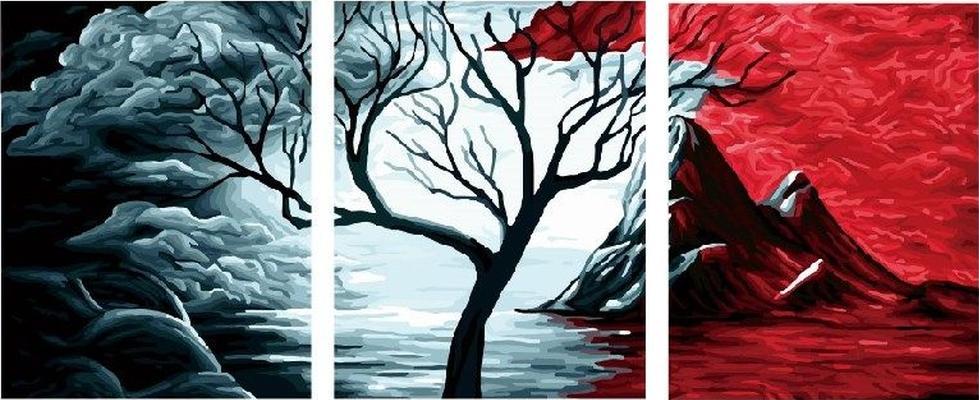 Купить Картина по номерам «Равновесия нет», Paintboy (Premium), Китай, 3 шт. 40x50 см, PX5108