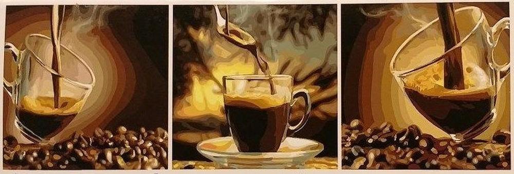 Картина по номерам «Кофейное настроение», Paintboy (Premium), Китай, 3 шт. 50x50 см, PX5168  - купить со скидкой