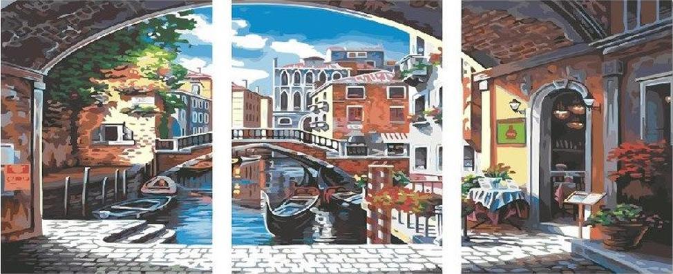 Купить Картина по номерам «Венеция», Paintboy (Premium), Китай, 3 шт. 40x50 см, PX5169