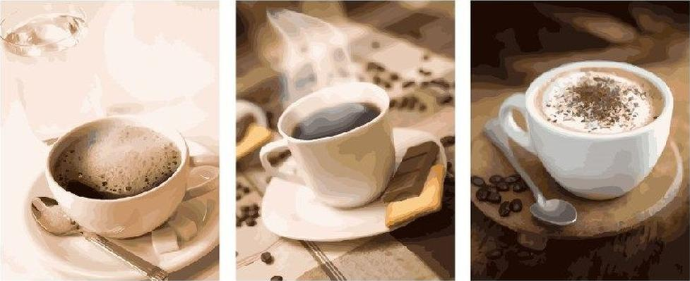 Купить Картина по номерам «Аромат кофе», Paintboy (Premium), Китай, 3 шт. 40x50 см, PX5175
