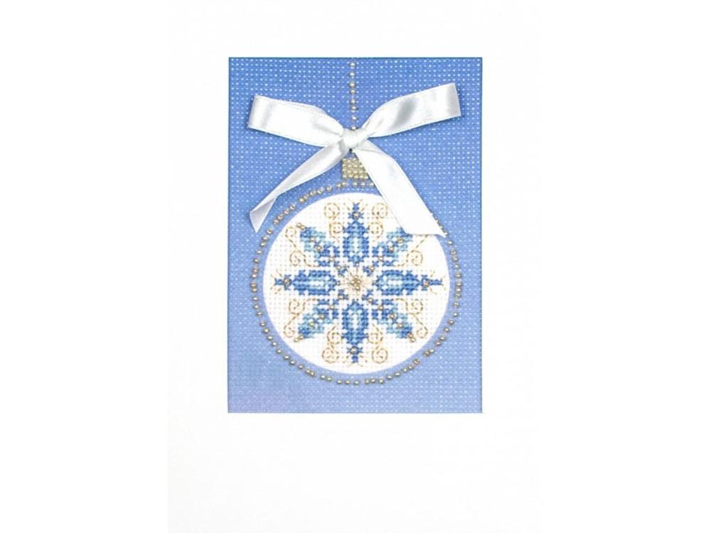 Купить Смешанная техника, Набор для вышивания «Снежный узор» (открытка), Матренин Посад, 20x22 см, 8324