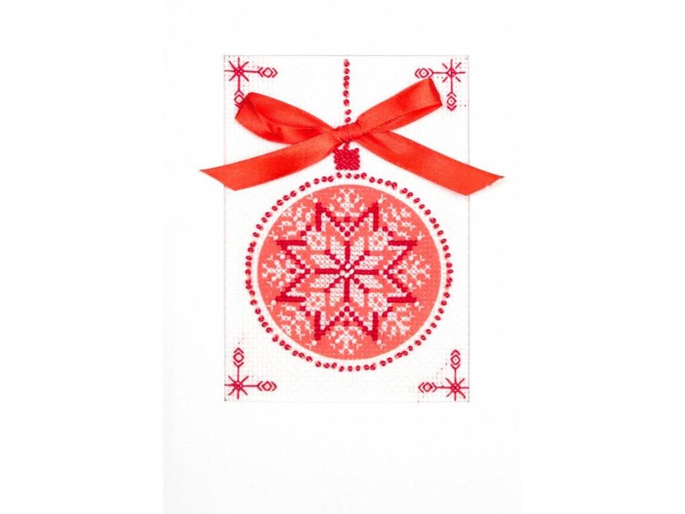 Купить Смешанная техника, Набор для вышивания «Скандинавский мотив» (открытка), Матренин Посад, 20x22 см, 8325