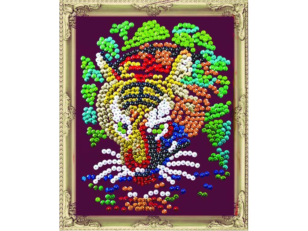 Купить Мозаика из пайеток «Тигр», Color KIT, 24x30 см, CM001