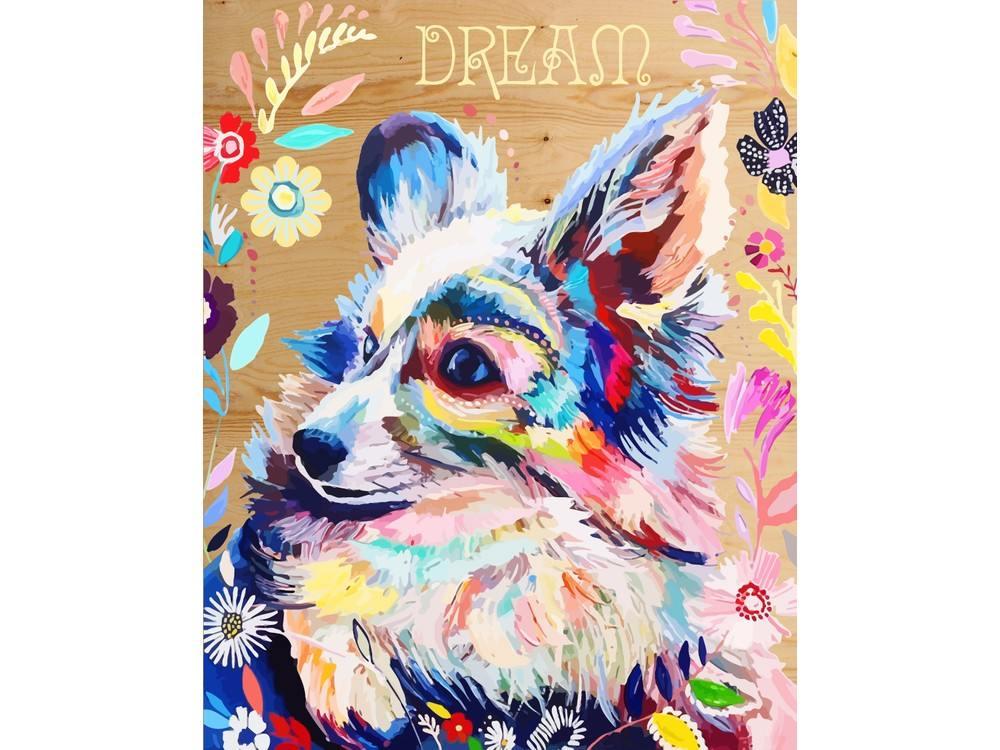Купить Картина по номерам по дереву Color KIT «Цветочная радость», 40x50 см, DER022