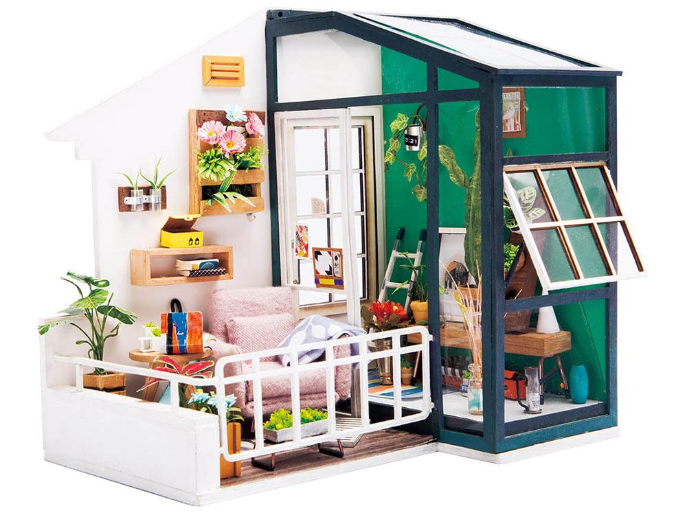 Купить Набор для создания миниатюры (румбокс) «Балкон мечты», Цветной, 18x14x18 см, DGM05