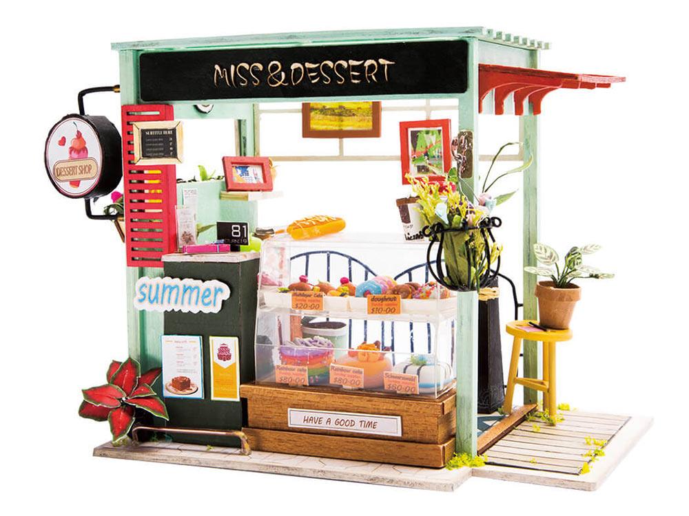 Купить Набор для создания миниатюры (румбокс) «Кондитерский магазинчик», Цветной, 21x14x15 см, DGM06