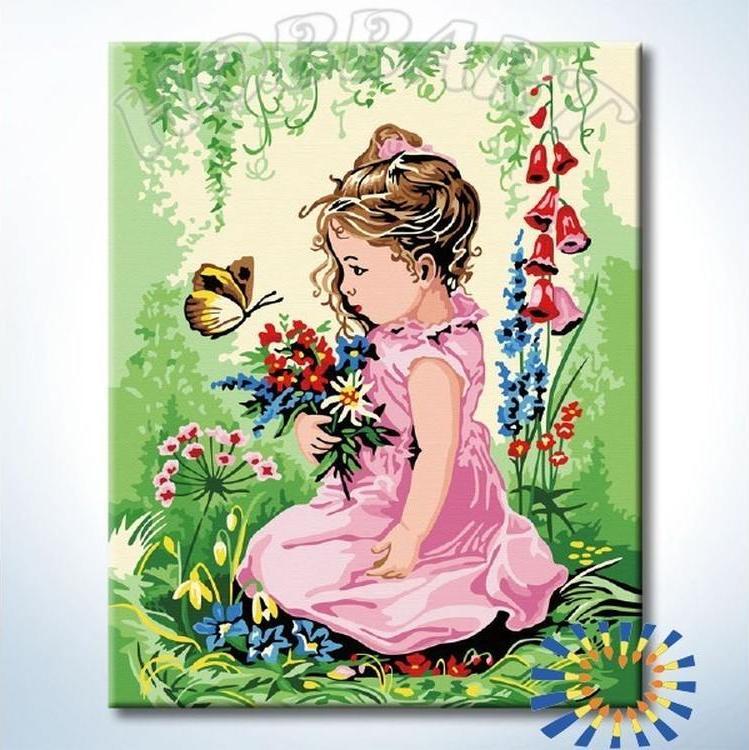 Купить Картина по номерам «Полевой букет», Hobbart, HB4050380-Lite