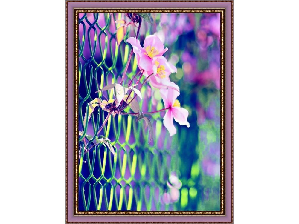 Вышивка бисером, Набор вышивки бисером «Нежные цветы», Color KIT, 30x40 см, VS002  - купить со скидкой