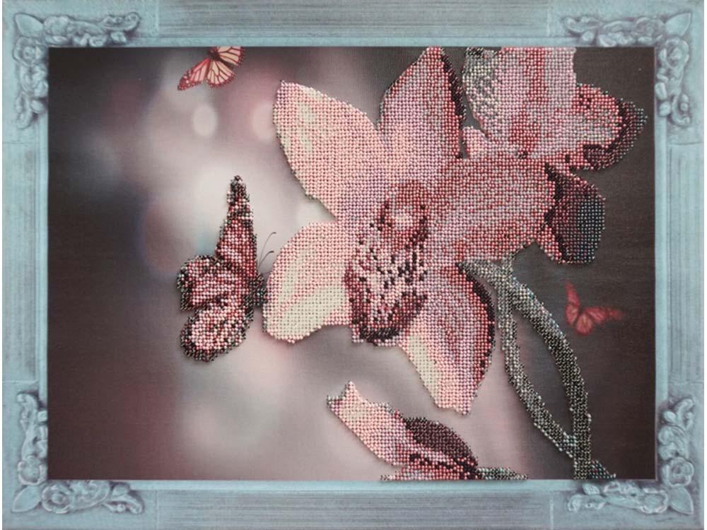 Купить Вышивка бисером, Набор вышивки бисером «Нежная орхидея», Color KIT, 30x40 см, VS006
