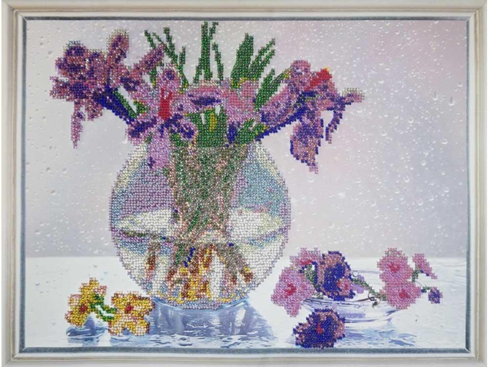 Купить Вышивка бисером, Набор вышивки бисером «Дыхание весны», Color KIT, 30x40 см, VS014