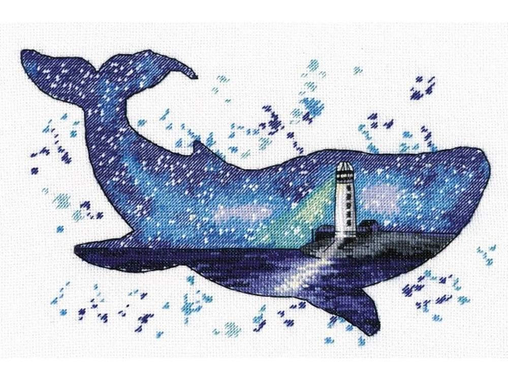 Купить Вышивка крестом, Набор для вышивания «Мир животных. Кит», Овен, 25x17 см, 1039
