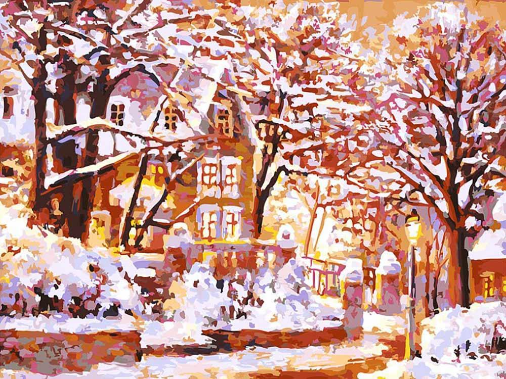 Купить Картина по номерам «Зимняя сказка», Белоснежка, Россия, 225-AS